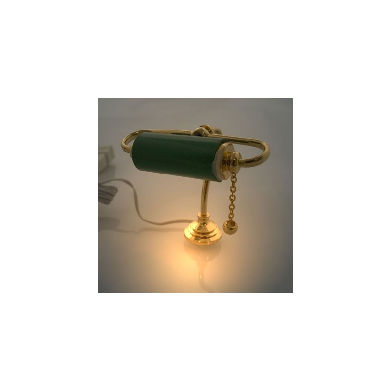 9v 12v brass banker desk lamp light dollhouse miniature for 12v table lamp