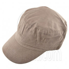 Military Cap with Clip (LIGHT BROWN)