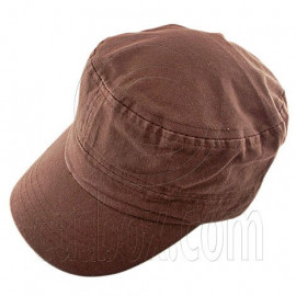 Military Cap with Clip (BROWN)