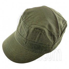 Military Cap with Button (OLIVE GREEN)