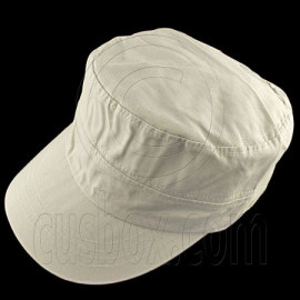 Military Cap with Button (LIGHT KHAKI)