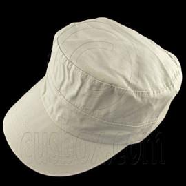 Military Cap with Button (LIGHT KHAKI)