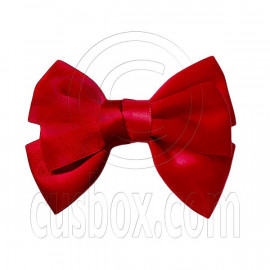 Pair Adorable 4.5inches 11cm Ribbon Bowknot Bow Tie Alligator Hair Clips BURGUNDY RED