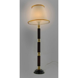 Fringed Shade Floor Lamp 12V Light Dollhouse Miniature