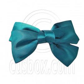 Pair Adorable 4.5inches 11cm Ribbon Bowknot Bow Tie Alligator Hair Clips DARK GREEN