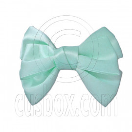 Pair Adorable 4.5inches 11cm Ribbon Bowknot Bow Tie Alligator Hair Clips MINT GREEN