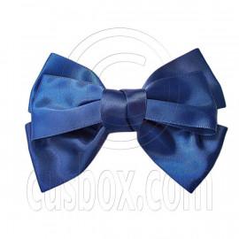 Pair Adorable 4.5inches 11cm Ribbon Bowknot Bow Tie Alligator Hair Clips DARK BLUE