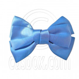 Pair Adorable 4.5inches 11cm Ribbon Bowknot Bow Tie Alligator Hair Clips SKY BLUE