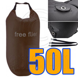 50L Taffela Waterproof Dry Bag (with 3 Eyelet & shoulder strap)