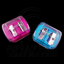 Cosmetic Pencil Sharpener Dual Hole 8mm 11mm (Blue / Pink)