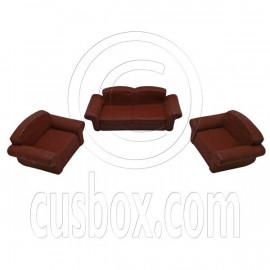 Brown Rubber Sofa Set 1/6 Barbie Blythe Doll's House Dollhouse Furniture 3pcs