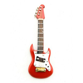 Electric Plug Red Guitar Musical Dollhouse Miniature