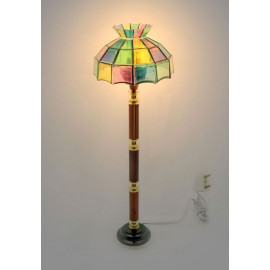 Vintage Glass Floor Lamp 12V Light Dollhouse Miniature
