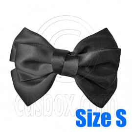 Pair Adorable 3inch 8cm Ribbon Bowknot Bow Tie Alligator Hair Clips Small BLACK