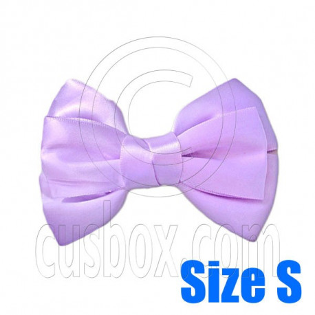 Pair Adorable 3inch 8cm Ribbon Bowknot Bow Tie Alligator Hair Clips Small LIGHT PURPLE