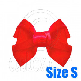 Pair Adorable 3inch 8cm Ribbon Bowknot Bow Tie Alligator Hair Clips Small RED