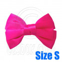 Pair Adorable 3inch 8cm Ribbon Bowknot Bow Tie Alligator Hair Clips Small HOT PINK