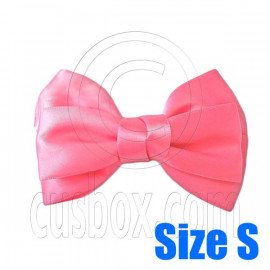 Pair Adorable 3inch 8cm Ribbon Bowknot Bow Tie Alligator Hair Clips Small SALMON PINK