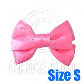 Pair Adorable 3inch 8cm Ribbon Bowknot Bow Tie Alligator Hair Clips Small CARNATION PINK