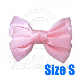 Pair Adorable 3inch 8cm Ribbon Bowknot Bow Tie Alligator Hair Clips Small BABY PINK