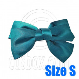 Pair Adorable 3inch 8cm Ribbon Bowknot Bow Tie Alligator Hair Clips Small DARK GREEN