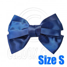 Pair Adorable 3inch 8cm Ribbon Bowknot Bow Tie Alligator Hair Clips Small DARK BLUE