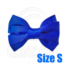 Pair Adorable 3inch 8cm Ribbon Bowknot Bow Tie Alligator Hair Clips Small ROYAL BLUE
