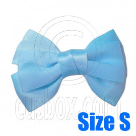 Pair Adorable 3inch 8cm Ribbon Bowknot Bow Tie Alligator Hair Clips Small BABY BLUE