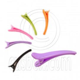 Pair 3inch 8cm Acrylic Alligator Hair Clips Small Random Color