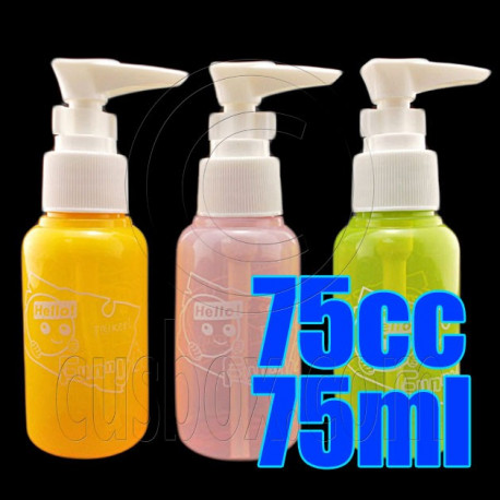 75cc 75ml Lotion Pump Color Bottle