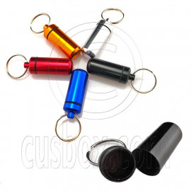 Mini Pill Capsule Box Key Chain Medium Size