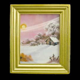 Victorian Picture Framed Wall Art Dollhouse Miniature