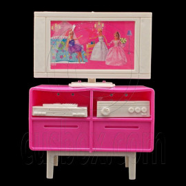 Plastic TV Stand Cabinet 1:6 for Blythe Barbie Doll's House Dollhouse Furniture