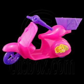 Pink Plastic Motorcycle 1:6 Barbie Blythe Doll's House Dollhouse Miniature