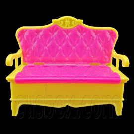 Pink Yellow Sofa Sleeper 1:6 New Barbie Blythe Doll's House Dollhouse Miniature
