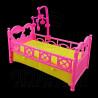 Plastic Nursery Crib Cradle 1:6 Barbie Kelly Doll's House Dollhouse Miniature