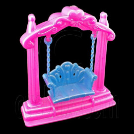 Pink Blue Swing Bench Chair 1:6 Barbie Blythe Doll's House Dollhouse Miniature