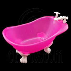 Plastic Pink Bathroom Bathtub 1:6 Barbie Kelly Doll's House Dollhouse Miniature