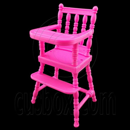 Pink Nursery Baby High Chair 1:6 Barbie Kelly Doll's House Dollhouse Miniature