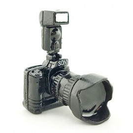 DSLR Digital Camera w Flash Lens Dollhouse Miniature