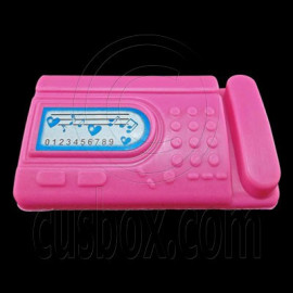 Pink Desktop Fax Machine 1/6 Barbie Blythe Size Doll's House Dollhouse Miniature