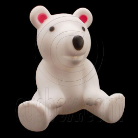 Rubber Cute White Polar Bear 1/6 Barbie Blythe Doll's House Dollhouse Miniature