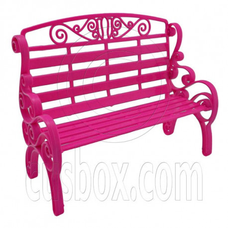 Pink Garden 2-Seate Chair Bench New 1/6 Barbie Doll's House Dollhouse Furniture