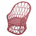 Pink Wire Stylish Wicker Peacock Chair New 1/12 Doll's House Dollhouse Furniture