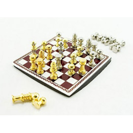 International Western Chess Game Dollhouse Miniature