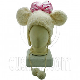White Mickey Big Bow Butterfly Mascot Plush Costume Halloween Party Hat Cap Mask