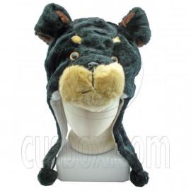 Black Bear Funny Fur 3D Mascot Plush Costume Adult Boys Halloween Hat Cap Mask