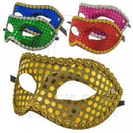 Mardi Gras Beads Flash Cosplay Venetian Masquerade Ball Party Costume Mask