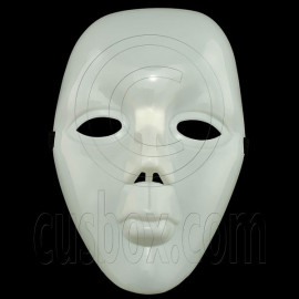 Plain White Girl Women Lady 3D Party Halloween Ball Hard Face Mask