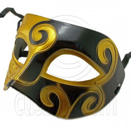 Golden Black Floral Mardi Gras Venetian Masquerade Party Face Eye Mask Halloween